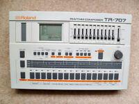 Roland TR-707 Rhythm Composer Drum Machine & M-64C Memory Cartridge