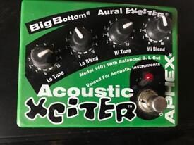 Aural xciter effects pedal