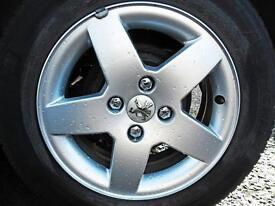 **4x108 Peugeot fitment alloy wheels**