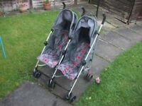 Mothercare Childrens Double Buggy/Pushchair