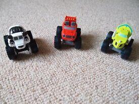 3 x Blaze toys