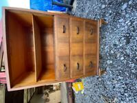 Walnut Cabinet with Open shelves