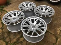 """18"""" 3sdm 5x112 powder coated mint condition"""