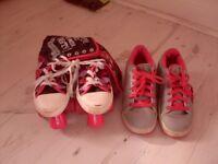 Girls Heelies&Roller Boots also Black ankle boots