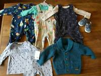 Baby boy clothes up to 3 months - M&S + Next some tags still attached