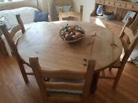 Circular Dining Table with 4 Chairs. Must see!