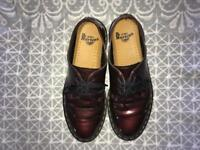 Red Patent Dr Marten Shoes Cool and Edgy