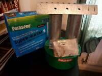 Parasene super warm 5 parrafin green house heaters brand new