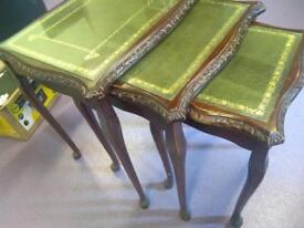 Green nesting tables