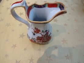 IRONSTONE CHINA EWER – VERY OLD WITH CHINESE DESIGN.