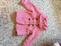 Next girls pink fleece military coat