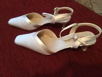 Ivory Satin Wedding Shoes Size 5 1/2