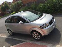 Audi A2 1.4 Diesel Panaronic roof,FSH, £30 Road Tax
