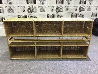 2 x Wicker rack/ shelf unit