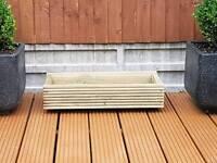 New garden decking planters