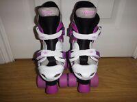 Osprey Girls Quad Skates Children's Size 10-12 Purple & White Colour £15 O.N.O