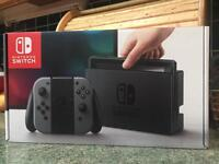 NINTENDO SWITCH CONSOLE - GREY - BRAND NEW - NO OFFERS