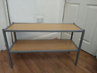 House clearance! Solid Shoe Rack/ Shelf in Metal Frame in very good condition.