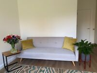 Sofa bed, super comfy, like new from Made