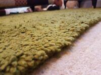 Habitat Kelaty green fluffy wool rug 160x230cm