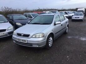 2003 VAUXHALL ASTRA CLUB IN NICE CKEAN CONDITION GOOD DRIVER MOT BLSCK CLTH SEATS ANY TRIAL WEKCOME