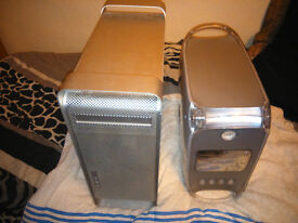 joblot x2 apple dekstop pcs/computers - power mac g4/g5 - spares/repairs/faulty