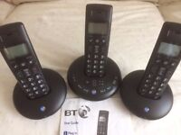 Set of 3 Cordless phones with Answerphone, full working order