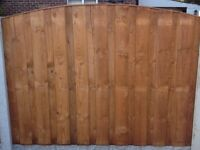 Heavy Duty Pressure Treated Overlay Fence Panels (6x1 Only)