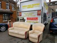 3+1 cream leather sofa