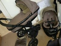 Quinny moodd travel system- car seat isofix base carry cot adaptors cosytoes