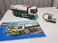 Lego City Tanker Truck + petrol station + driver 60016 - complete