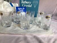 Boxed set of 6 'Tutbury Crystal Richmond Tumblers' Full Lead Handcut .... Unused.