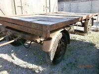 Vintage turn table trailer for restoration, barn find, 1950's 1960's, shepherds hut trailer