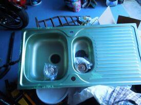 Brand New Astrolite Stainless Steel 1 1/2 Bowl Sink