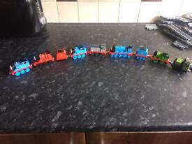 Thomas the tank magnetic trains and track