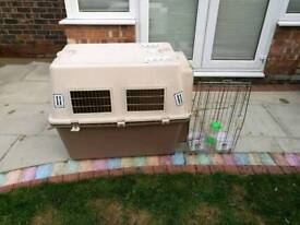 Dog cage (Large) on wheels