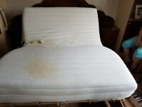 Orthapedic bed with massage mattress
