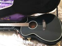 Crafter electro acoustic guitar with hard case