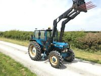Ford 4610 4wd loader tractor c/w quicke 430 power loader tidy tractor 6900 hours no vat