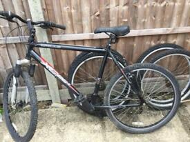 Bicycle and 2 sets wheels spares or repair clearing sh ed