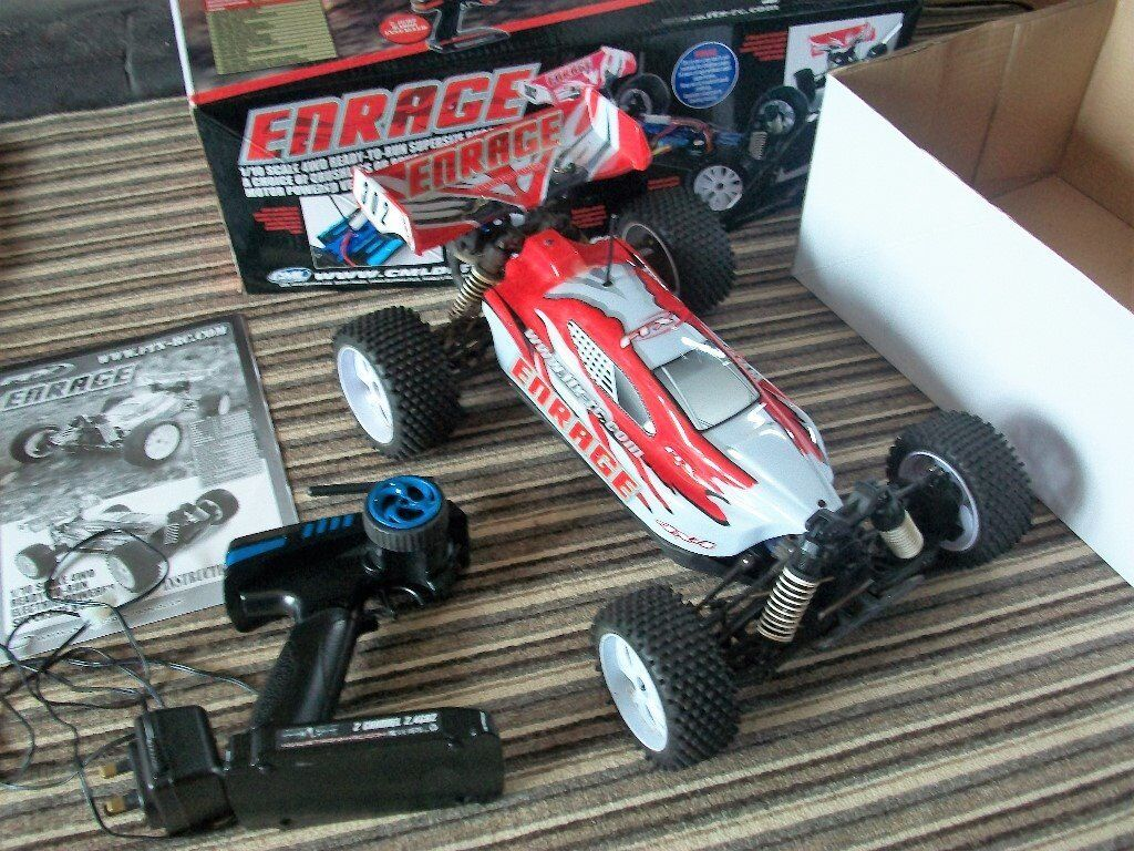 4WD remote Control Buggyin Worcester, WorcestershireGumtree - Enrage 1/10 Scale 4WD Brushed Electric Powered Motor Remote control. Excellent condition