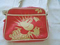 A Genuine Retro Salmon Pink Disney Micky Mouse Messenger Bag