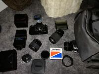 Ricoh XR-P camera set with Tamron and sigma lenses