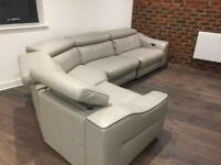 Elixir leather reclining sofa from furniture village