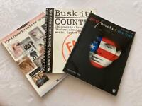 3 country music books.