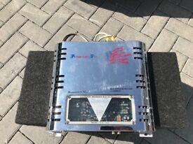 American Pro Bass 600W AMP w/ Vibe Black Air II+ 1600W Sub