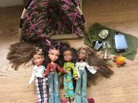 Bratz dolls and house