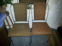 2 wicker chairs free to collector Torquay