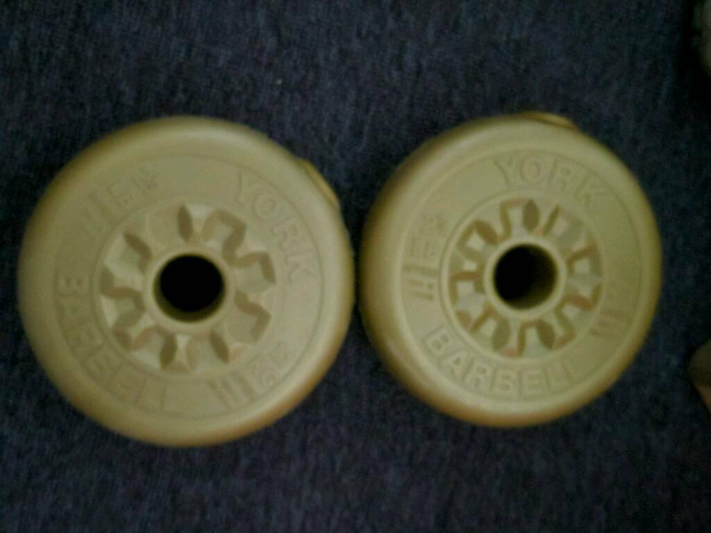 York 1.kg barbell weights