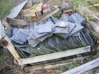 pallet of blue slate various sizes for sale